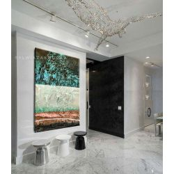 Strukturalne marzenia - abstrakcyjne obrazy do modnego salonu Akryl