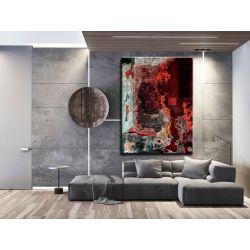 Strukturalna lawa - abstrakcyjne obrazy do modnego salonu Antyki i Sztuka