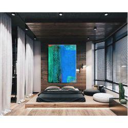 Nadmorska fantazja - abstrakcyjne obrazy do modnego salonu