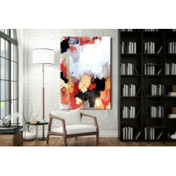 Złoto i alabaster - abstrakcyjne obrazy do modnego salonu Malarstwo