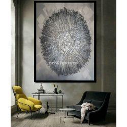 Metaliczna otchłań - obraz na płótnie Malarstwo