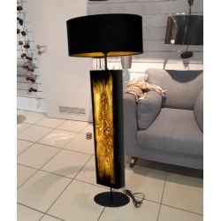 Złote zdobienia - ekskluzywna ręcznie rzeźbiona lampa podłogowa Pozostałe