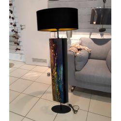 Szmaragdowa dekoracja - ekskluzywna ręcznie rzeźbiona lampa podłogowa Meble