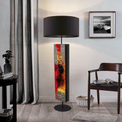 Abstrakcyjna inspiracja - ekskluzywna ręcznie rzeźbiona lampa podłogowa Meble