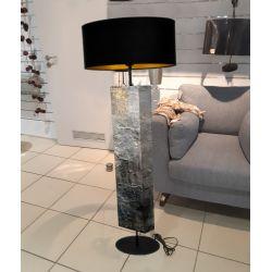 Kamień i złoto - modna lampa podłogowa w stylu eklektycznym Pozostałe