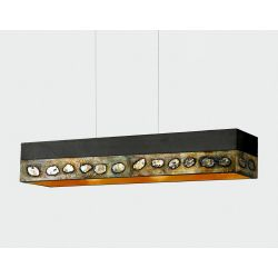 AMARA - Artystyczna ekskluzywna LAMPA SUFITOWA duża do loftu Akryl