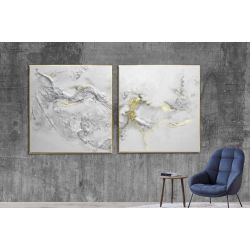 Biała elegancja dyptyk - obraz na płótnie Antyki i Sztuka