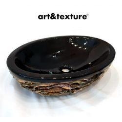 VERONA - nablatowa umywalka artystyczna ręcznie wykończona Akryl