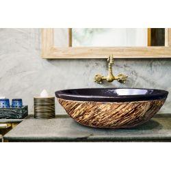 COSTA - nablatowa umywalka artystyczna ręcznie wykończona Antyki i Sztuka