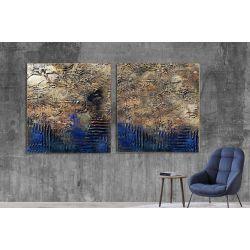 Industrialny dyptyk - Wielkoformatowy obraz na płótnie abstrakcyjny art&texture® Akryl