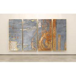 GOLDEN ROSE - Wielkoformatowy obraz na płótnie abstrakcyjny art&texture® Akryl