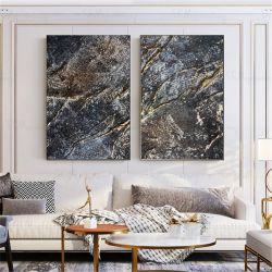 Strukturalne żłobienia -Wielkoformatowy obraz na płótnie abstrakcyjny art&texture® Antyki i Sztuka