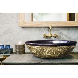 DESERT - nablatowa umywalka artystyczna ręcznie wykończona Pozostałe