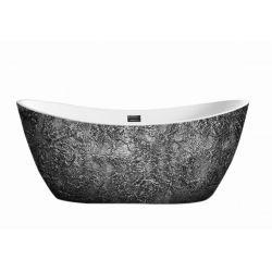 Silverra - artystyczna ekskluzywna wanna ze strukturą Akcesoria łazienkowe