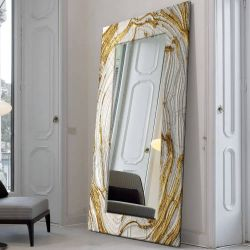 MIRROR GLAM - duża artystyczna ręcznie wykończona rama do lustra Pozostałe