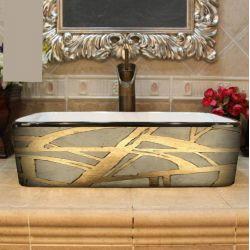 DORADA - nablatowa umywalka artystyczna ręcznie wykończona
