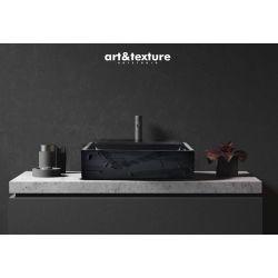 BLACK ELEGANCE - nablatowa umywalka artystyczna ręcznie wykończona Meble
