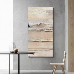 CREAM TEXTURE - Wielkoformatowy obraz na płótnie abstrakcyjny art&texture™ Antyki i Sztuka