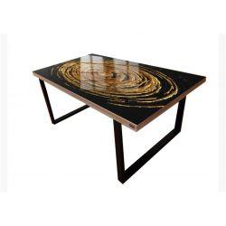 Stół do jadalni ze złotą strukturą