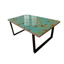 ROYAL - Stół do jadalni ze złotą strukturą