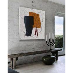 ALTERNATIVO - Wielkoformatowy obraz na płótnie abstrakcyjny art&texture™ Akryl