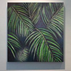 TROPICANA - obrazy z liśćmi tropikalnymi monstera dracena palma modny motyw Akryl