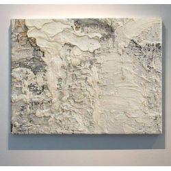 CREAM ROCK - Wielkoformatowy obraz na płótnie abstrakcyjny art&texture™ Antyki i Sztuka