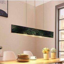 BRASILIANA - modna loftowa lampa z motywem fakturowanych liści tropikalnych Wyposażenie