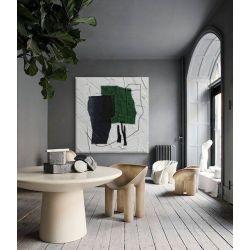 GREEN DOMINANTA - nowoczesny obraz do salonu zielona abstrakcja