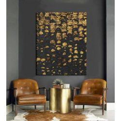 OSCURO - stylowy obraz do salonu czarno złoty elegancki glamour współczesny Malarstwo