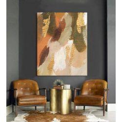 MILD - obraz ręcznie malowany w pastelowych kolorach współczesne wzornictwo ścienne