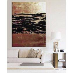 COPPER TREASURE - nowoczesny obraz do salonu z metaliczną strukturą Akryl