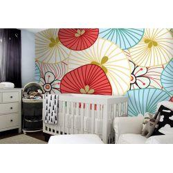 tapeta do pokoju dziecięcego - Maki Dekoracje i ozdoby