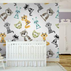 tapeta do pokoju dziecięcego - Kotki Dekoracje i ozdoby