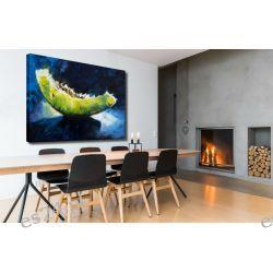 """obrazy malowane - duży obraz """"soczysty melon"""""""