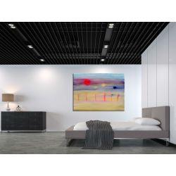 impresjonistyczna metafora - nowoczesny obraz na dużym płótnie 100x150cm Obrazki i obrazy