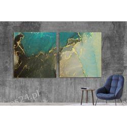 WATER VIEW - komplet 2 obrazów w stylu glamour do ekskluzywnych wnętrz Wyposażenie