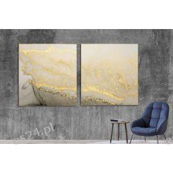 GOLD SAND - komplet 2 obrazów w stylu glamour do ekskluzywnych wnętrz Wyposażenie