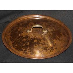 MIEDZIANA PRZYKRYWKA GARNKA srednica 19,5 cm