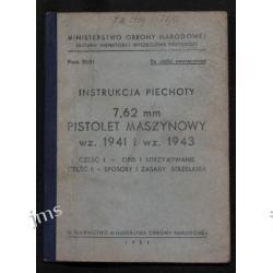 INSTRUKCJA 7,62mm PISTOLET MASZYNOWY wz 1941 1 1943