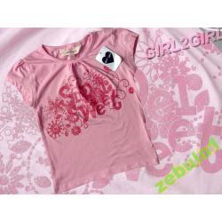 GIRL2GIRL różowa bluzeczka  brokatowy napis 122