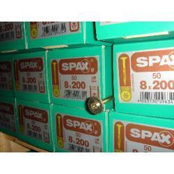 WKRĘTY SPAX TALERZOWE 8x200 OP 50 SZT TORX 40