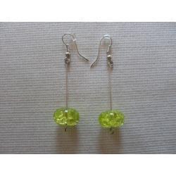 K-00167 Zielone kolczyki cracle