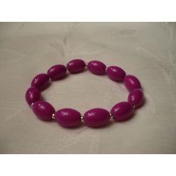 B-00023 Różowa bransoletka  Bransoletki