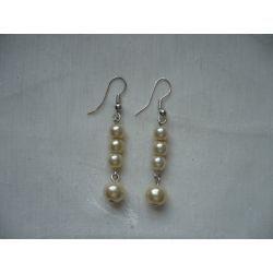 K - 000221 Kolczyki z kremowymi perełkami Kolczyki