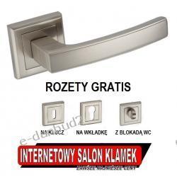 SUPER OKAZJA! Klamka HERMERS Infinity Line na rozecie kwadratowej satyna + ROZETY GRATIS