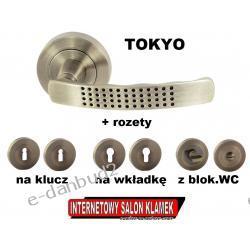 SUPER OKAZJA! Klamka TOKYO Gato na rozecie okrągłej Patyna + ROZETY GRATIS