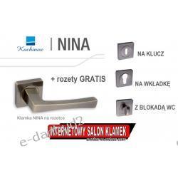 SUPER OKAZJA! Klamka NINA na rozecie kwadratowej patyna + ROZETY GRATIS