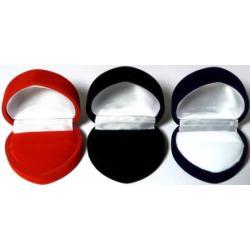 Pudełko na pierścionek - serduszko - trzy kolory...