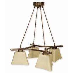 Magna lampa wisząca 4 pł. (brąz)